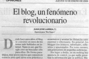 Diario Rio Negro - Juan Jose Larrea