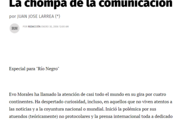 Diario rio negro Evo Morales