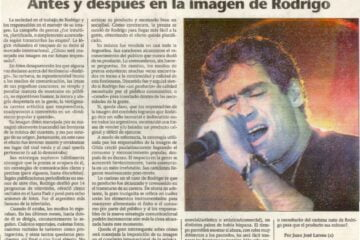 Nota Rodrigo - Juan Jose Larrea - Diario El Litoral