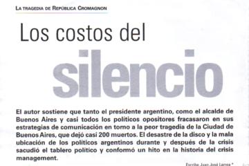 Los Costos del silencio - Cromagnon - Juan Jose Larrea